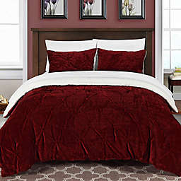 Chic Home Aurelia 2-Piece Twin XL Comforter Set in Red
