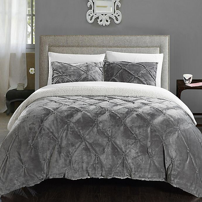 Alternate image 1 for Chic Home Aurelia 2-Piece Twin XL Comforter Set in Grey