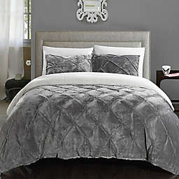 Chic Home Aurelia 2-Piece Twin XL Comforter Set in Grey