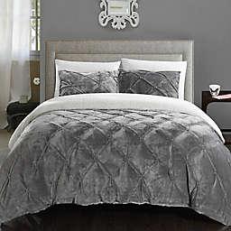 Chic Home Aurelia 2-Piece Twin XL Comforter Set in Grey