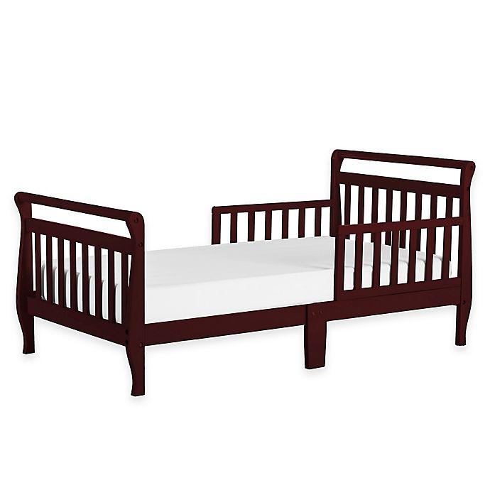 Alternate image 1 for Dream On Me Sleigh Toddler Bed in Cherry