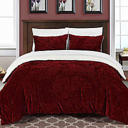 Chic Home Aurelia 7-Piece King Comforter Set in Red