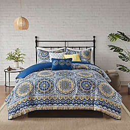 Madison Park Tangiers 2-in-1 Duvet Cover Set in Blue