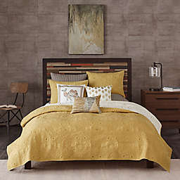 INK+IVY Kandula Reversible Full/Queen Coverlet Set in Yellow