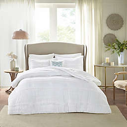 Madison Park Celeste 5-Piece Queen Comforter Set in White