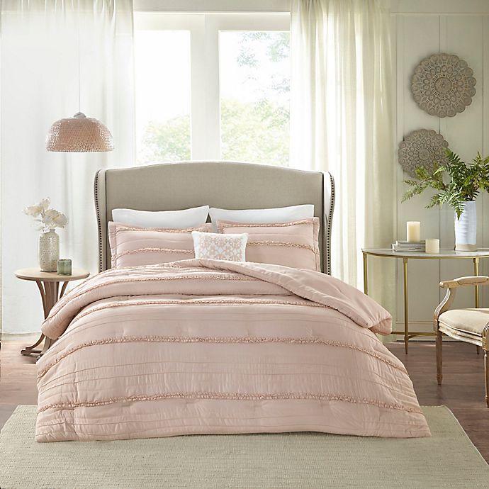 Alternate image 1 for Madison Park Celeste 5-Piece California King Comforter Set in Pink