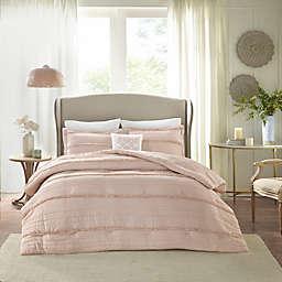 Madison Park Celeste 5-Piece California King Comforter Set in Pink