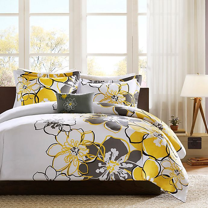 Alternate image 1 for Mi Zone Allison Twin/Twin XL Duvet Cover Set in Yellow