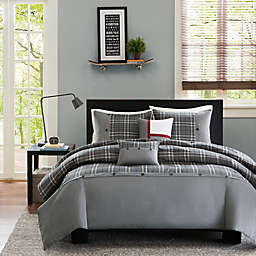 Intelligent Design Daryl Twin/Twin XL Duvet Cover Set in Grey