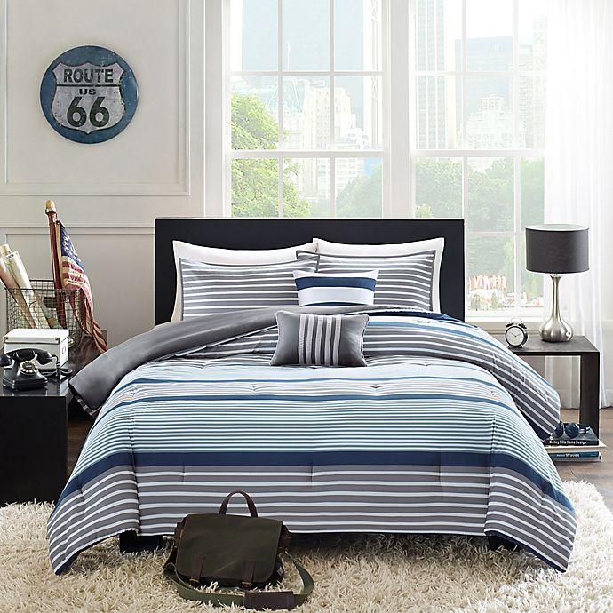 Alternate image 1 for Intelligent Design Paul 5-Piece Full/Queen Comforter Set in Blue
