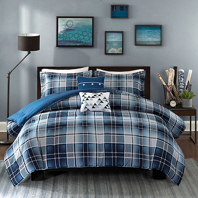 Alternate image 1 for Intelligent Design Camilo Comforter Set in Blue