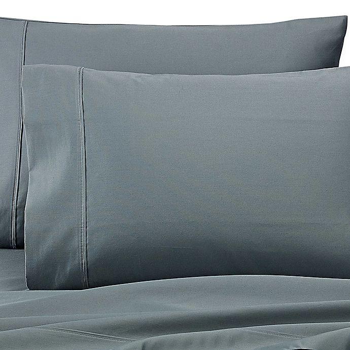 Alternate image 1 for Wamsutta® Dream Zone® PimaCott® 1000-Thread-Count Standard Pillowcases in Teal