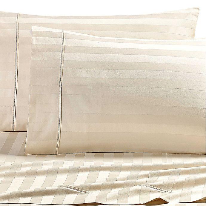 Alternate image 1 for Wamsutta® Dream Zone® Stripe PimaCott® California King Sheet Set in Ivory