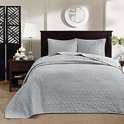 Madison Park Quebec 3-Piece Reversible King Bedspread Set in Grey