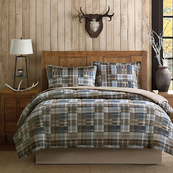 Alternate image 1 for Woolrich White River Comforter Set in Brown