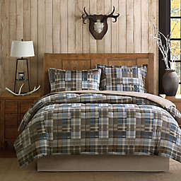 Woolrich White River Comforter Set in Brown