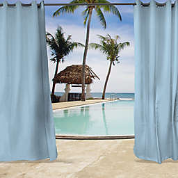 Sunbrella® Canvas 96-Inch Grommet Top Indoor/Outdoor Curtain Panel in Air Blue (Single)
