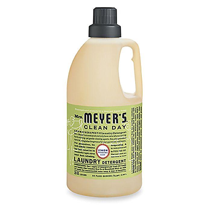Alternate image 1 for Mrs. Meyer's® Clean Day Aromatherapeutic Lemon Verbena 64 oz. Laundry Detergent