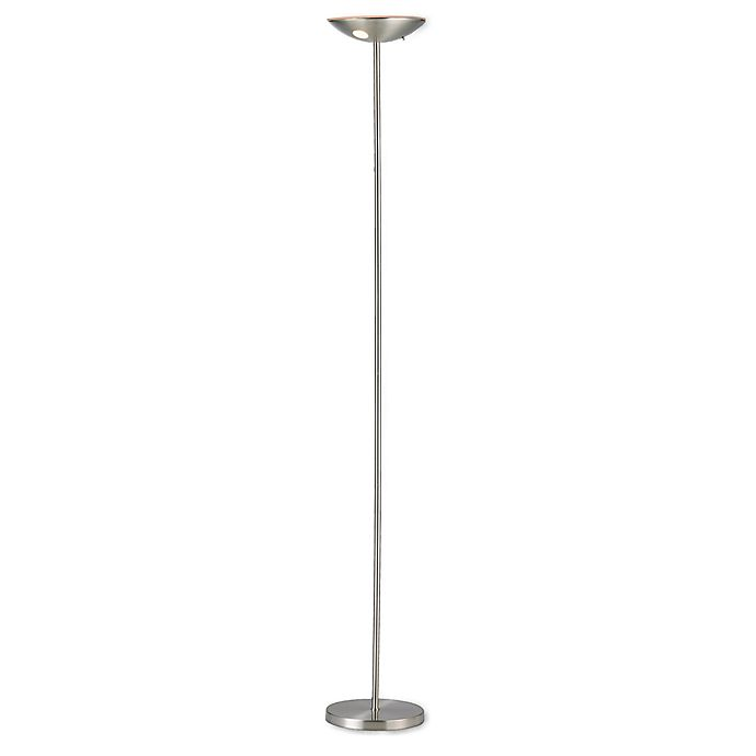 Alternate image 1 for Adesso® Mars Satin Steel Torchiere Floor Lamp