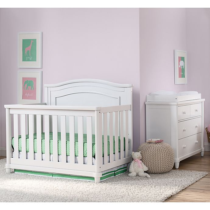 Alternate image 1 for Simmons Kids® Barrington Nursery Furniture Collection in Bianca