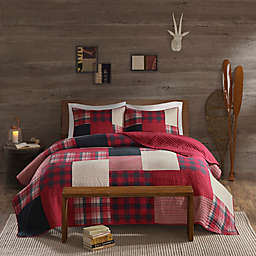 Woolrich® Sunset Reversible Coverlet Set in Red