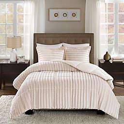 Madison Park Duke Faux Fur 3-Piece Comforter Set