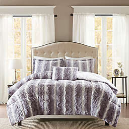 Madison Park® Zuri Faux Fur 4-Piece King/California King Comforter Set in Grey