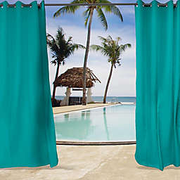 Sunbrella® Canvas Grommet Top Indoor/Outdoor Curtain Panel (Single)