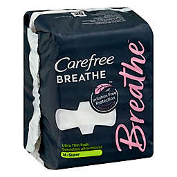 Carefree Breathe 14-Count Ultra Thin Super Pads