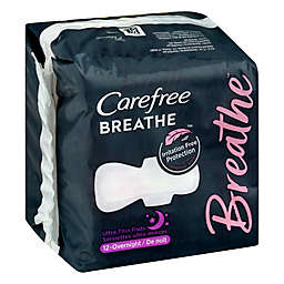 Carefree Breathe 12-Count Ultra Thin Overnight Pads