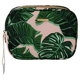 Allegro Tropical Print Double Zip Storage Pouch Makeup Bag Organizer