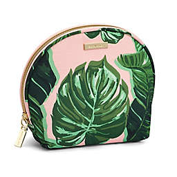 Allegro Tropical Print Round Top Makeup Bag Organizer