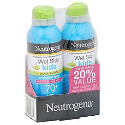 Neutrogena® 2-Pack Wet Skin Kids Beach & Pool Sunscreen Spray SPF 70+