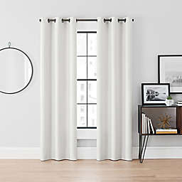 Brookstone® Curtain Fresh™ Dale 2-Pack 108-Inch Grommet Blackout Curtains in White